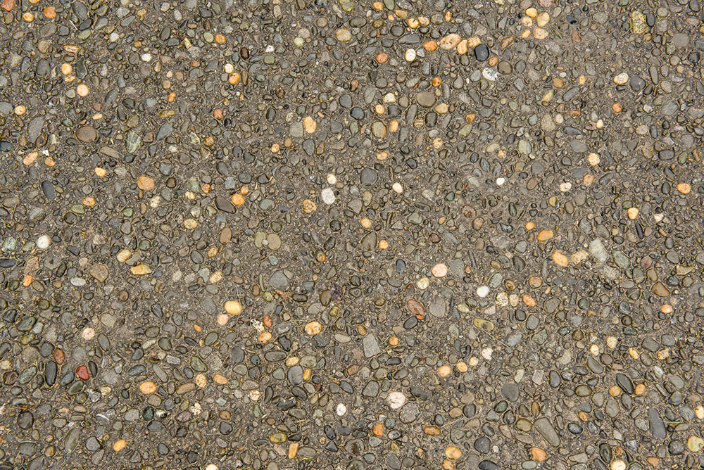 Exposed Aggregate with 5kg Black Oxide and Milford Pebble